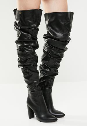 Kelly over the knee boot - black