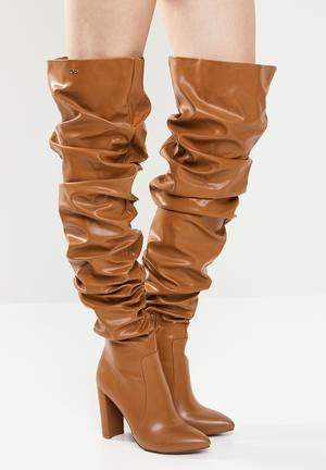 Kelly over the knee boot - tan