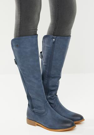 95b73fe15f91 Below the knee boot - navy