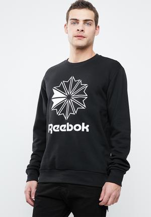 Reebok Herren Ac Ft Big Starcrest Crew Sweatshirt