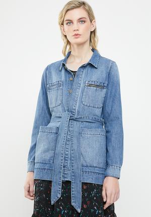 Kelly belt jacket - blue