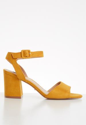 Amanda heeled sandal - yellow