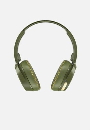 Riff wireless headphones - khaki & yellow