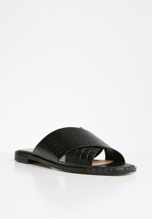 Celararith leather sandal - black multi