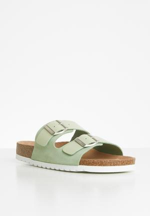Carla leather sandal - green