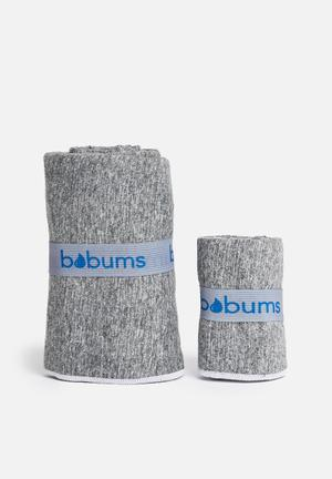 Gym towel and yoga towel set - Black white