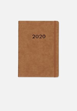 2020 A4 daily buffalo diary - tan