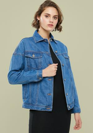Tia oversize denim jacket - blue
