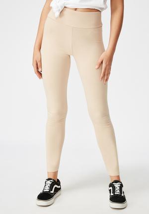 High waisted legging - neutral