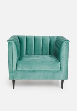Flute armchair - green