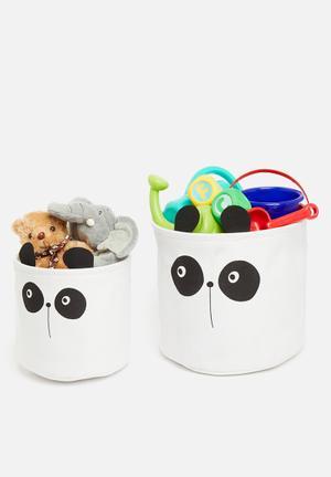 Soft basket set - panda