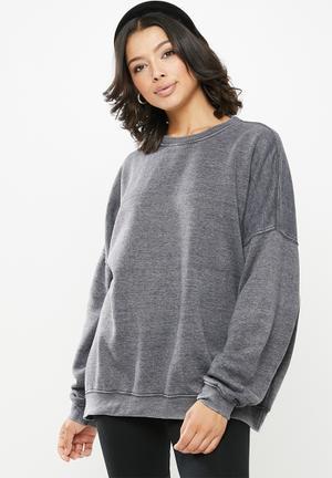 Washed sweatshirt - grey