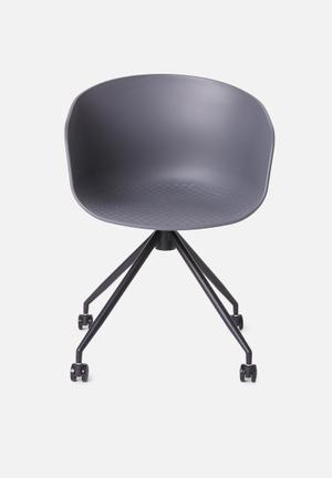 Bea office chair - charcoal
