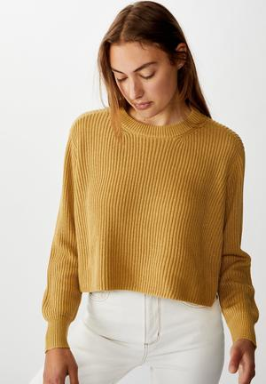 Archy cropped pullover -  prarie sand