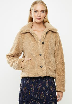 Emily teddy jacket - beige