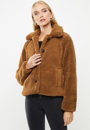 Emily teddy jacket - brown