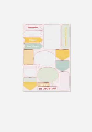 A5 shaped sticky note - pink & mint