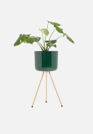 Flower pot stand large - green