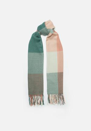 Blanket colour block scarf-multi