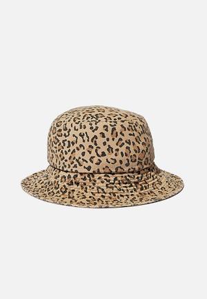 Bianca bucket hat - leopard print