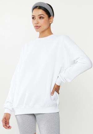 Basic oversized sweat - white