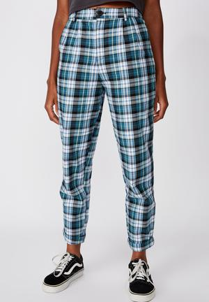 Tapered leg check pant - multi