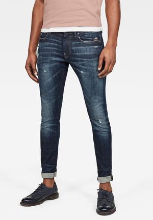 G-Star Raw Revend Super Slim Jeans Size W34//L34 Men/'s Blue New Original