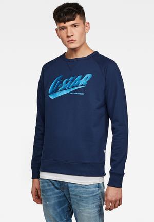 G-Star Raw Mens Fast GR Logo Short Sleeve Raglan T-Shirt