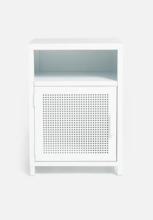 Isaiah bedside table - white