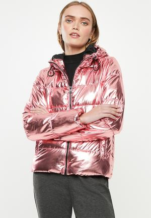 Ella metallic jacket - pink
