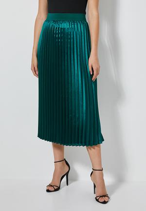 Pleated skirt - teal