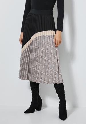 Pleated skirt - multi