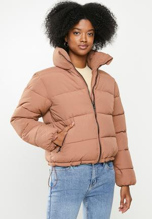 Padded puffer jacket - dirty pink