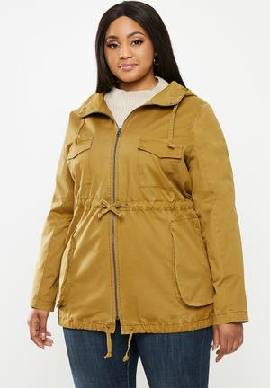 Ladies Womens Ruched Belted Hood Plus Size JACKET Size UK 12 14 16 18 20