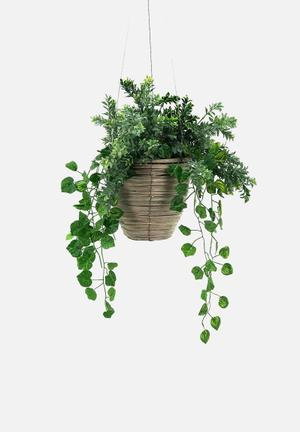 Binling hanging planter - brown