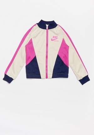 Nike girls sportswear heritage jacket - light orewood brown