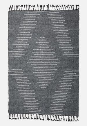 Waves woven rug - grey