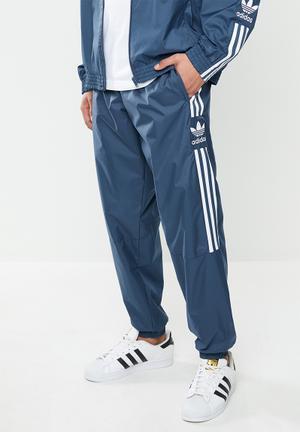 Lock up track pants - blue & white