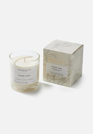Fresh zest glass collection candle