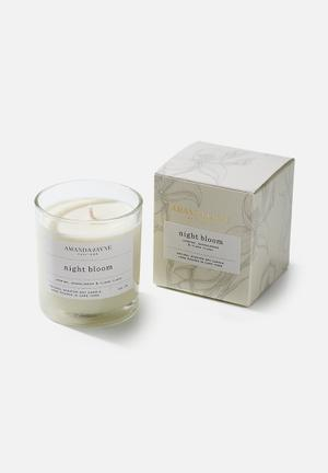 Night bloom glass collection candle