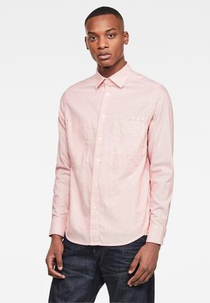 Dowl straight long sleeve shirt - pink