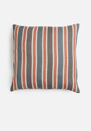 Liberty stripes cushion cover - aurora