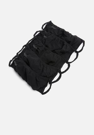Falke 5 pack double layer face masks - black