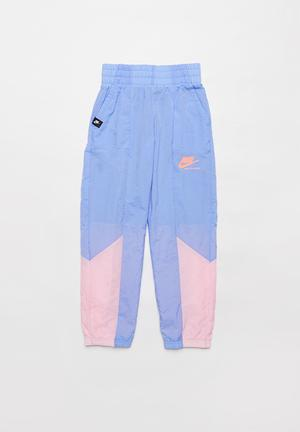 Girls Nike sportswear heritage woven pant - blue & pink