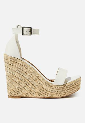 Amethyst espadrille wedge - white