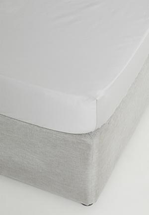 400tc egyptian cotton fitted sheet - grey