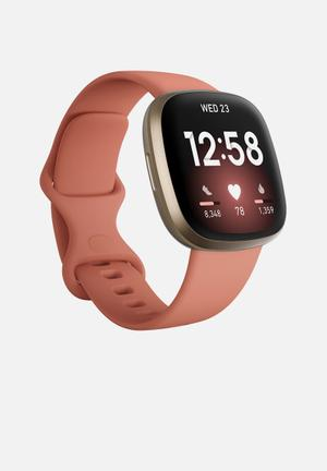 Fitbit Versa 3 - Pink Clay & Soft Gold