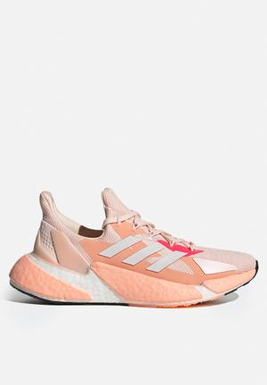 X9000l4 shoes - pink tint / cloud white / signal pink