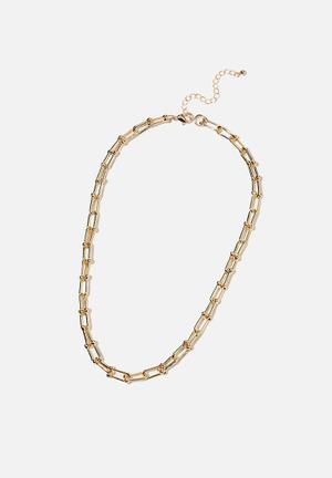 Luxe layers statement necklace - gold