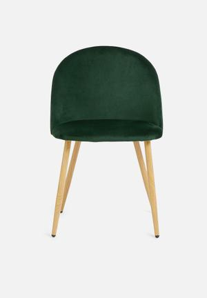 Slate dining chair - green